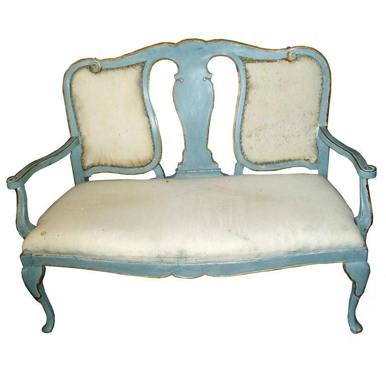 19th Century Swedish Gustavian Bench