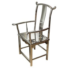 Minister Hat Armchair, Stainless Steel, Contemporary
