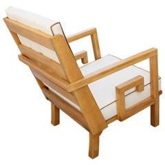 French Greek Key Lounge Chair