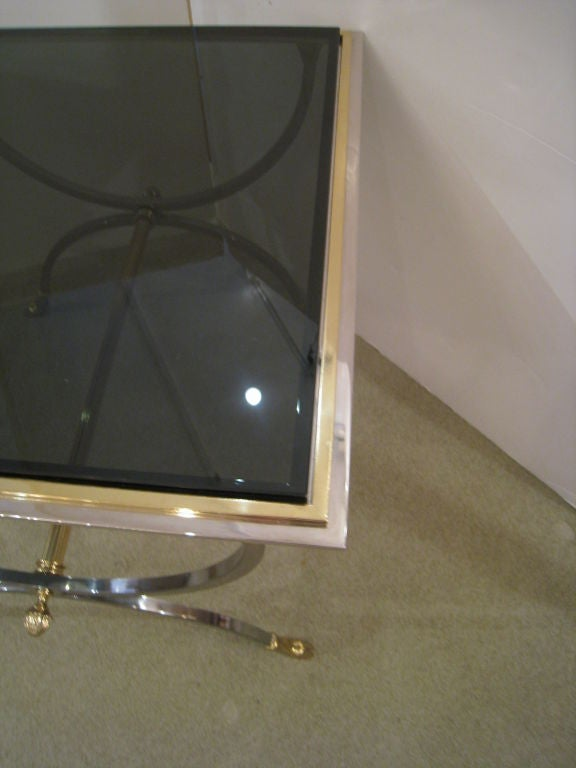 Pair of Steel and Brass Tables 5