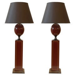 Pair of Large Maison Charles Table Lamps