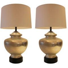 Pair of Mercury Glass Lamps
