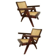 "Pair of Pierre Jeanneret ""Easy"" Chairs"