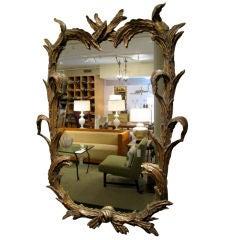 Italian Hand Carved Gilt Mirror
