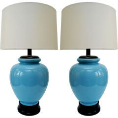 Pair of Large Ceramic Table Lamps
