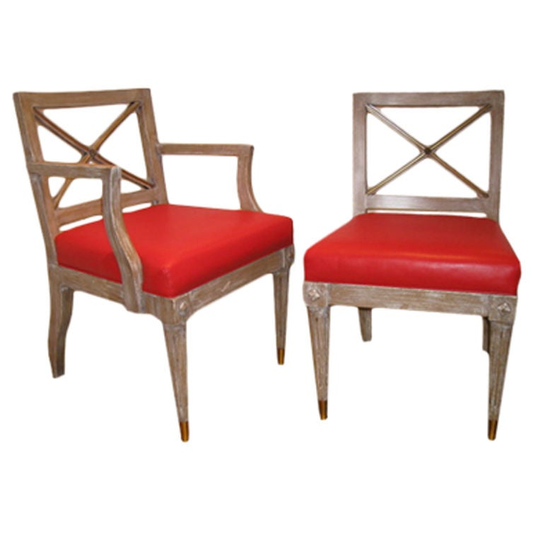 Set Of 8 Regency Style Dining Chairs At 1stdibs