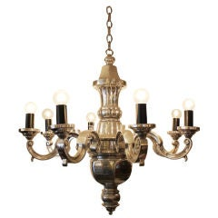 8 Arm Sand Cast Aluminum Chandelier
