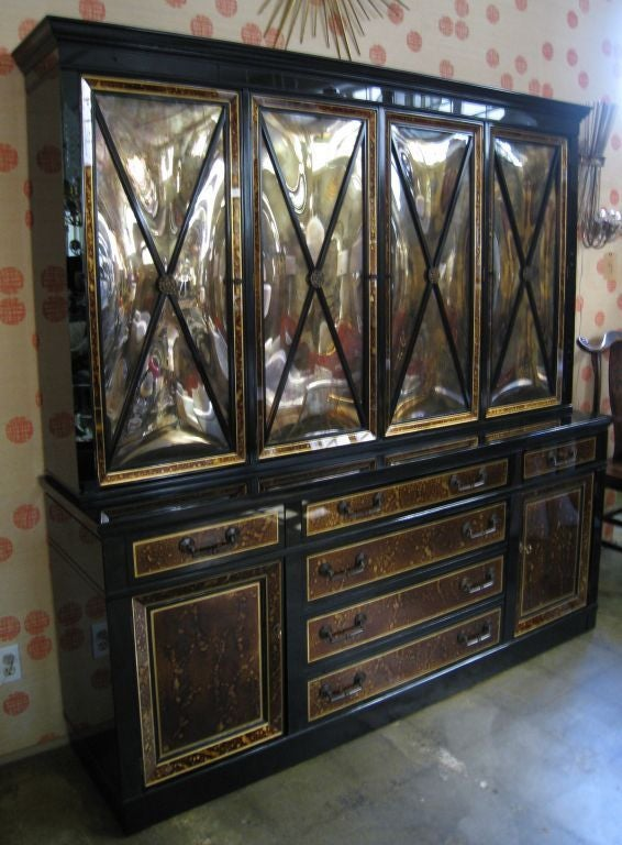 Tortoise and Black Glass Cabinet 2