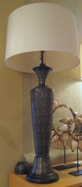 Pair of Italian Bronze Lamps 2
