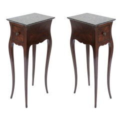 Pair of French Tables with Faux Malachite Painted Surface