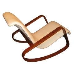 1930s Italian Rocking Chair By Giuseppe Pagano