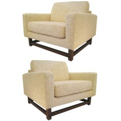 Pair of Large Arturo Pani Club Chairs