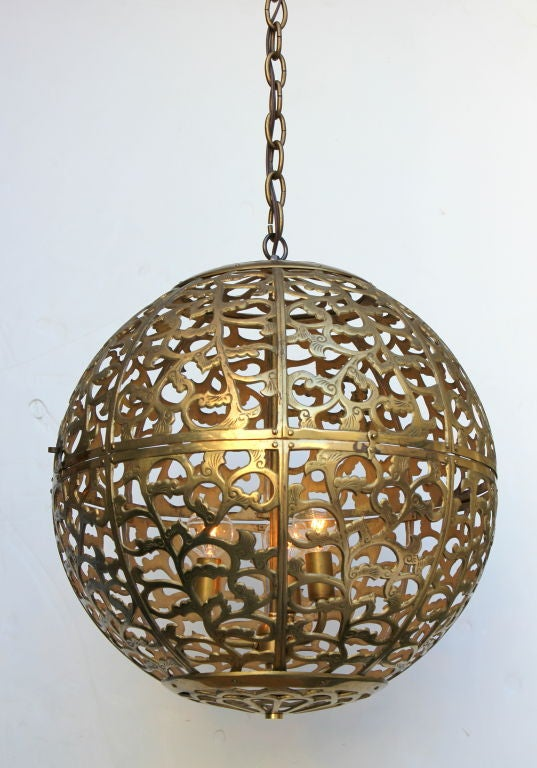 Large Japanese Globe Lantern In Excellent Condition For Sale In Los Angeles, CA
