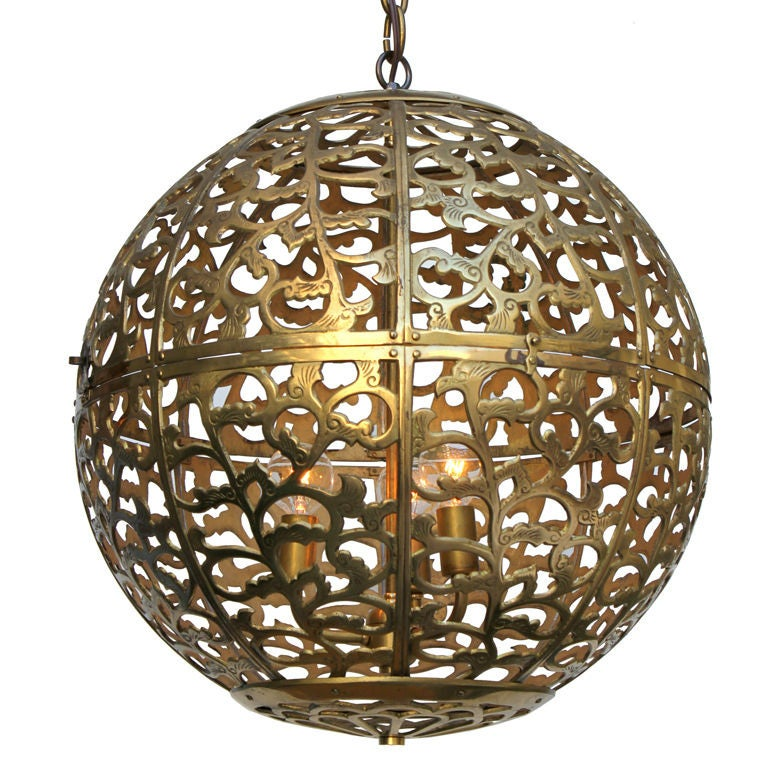 Large Japanese Globe Lantern For Sale