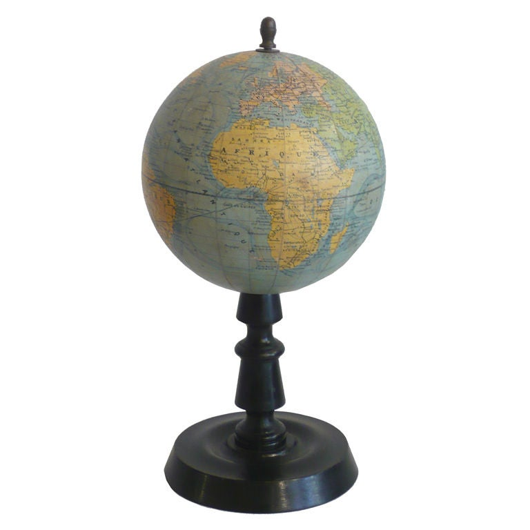Late 19th Century French Globe At 1stdibs