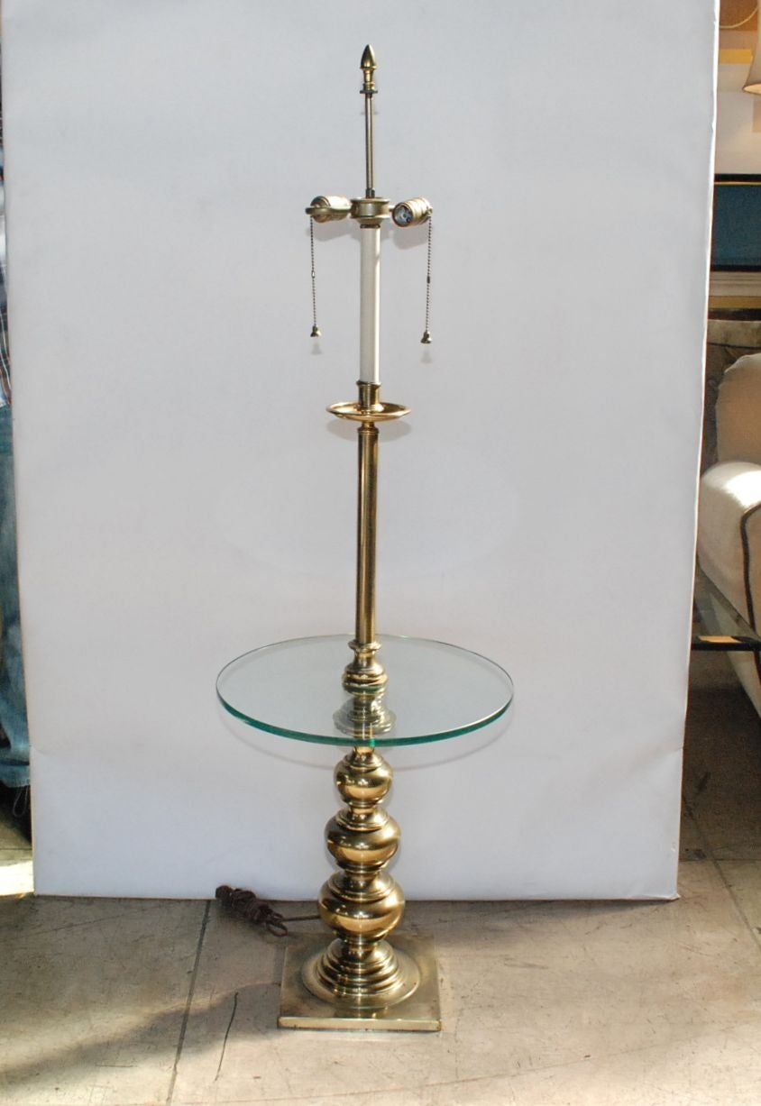Amazing Stiffel Brass And Glass Table Lamp For Sale At 1stdibs