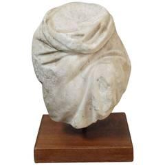 Antique Marble Draped Bust Torso