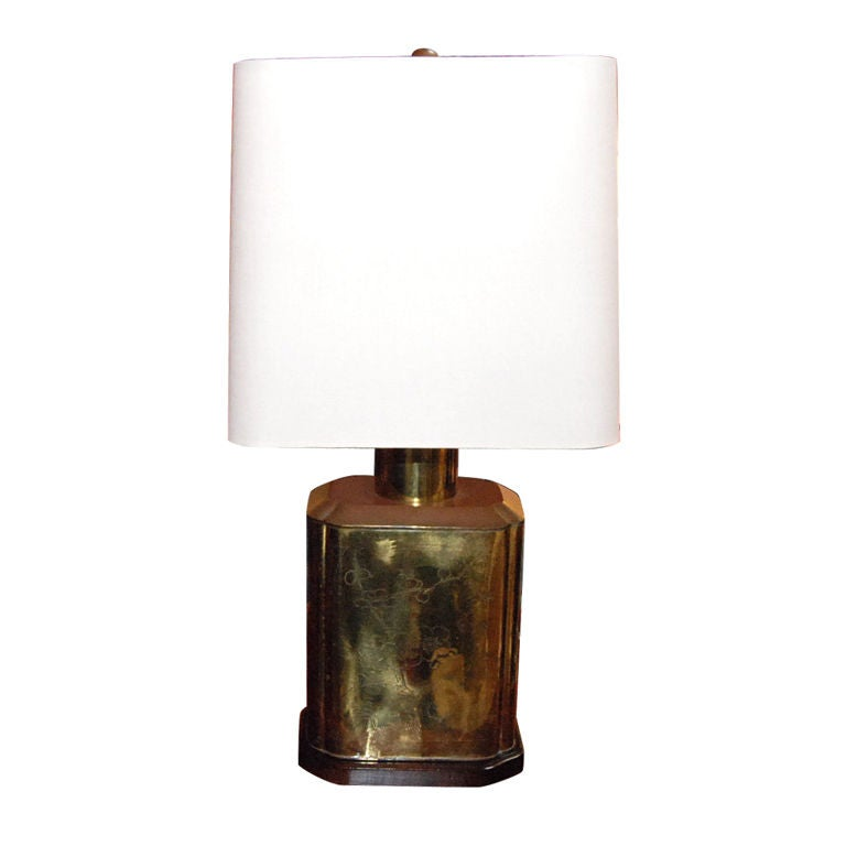 1920s Brass Chinese Style Table Lamp For Sale At 1stdibs