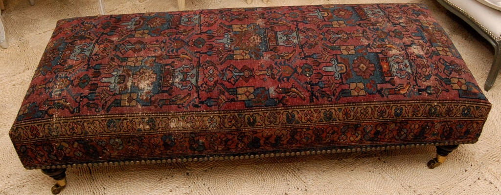 rug covered ottoman rug covered ottomans to die for home sweet home antique rug covered