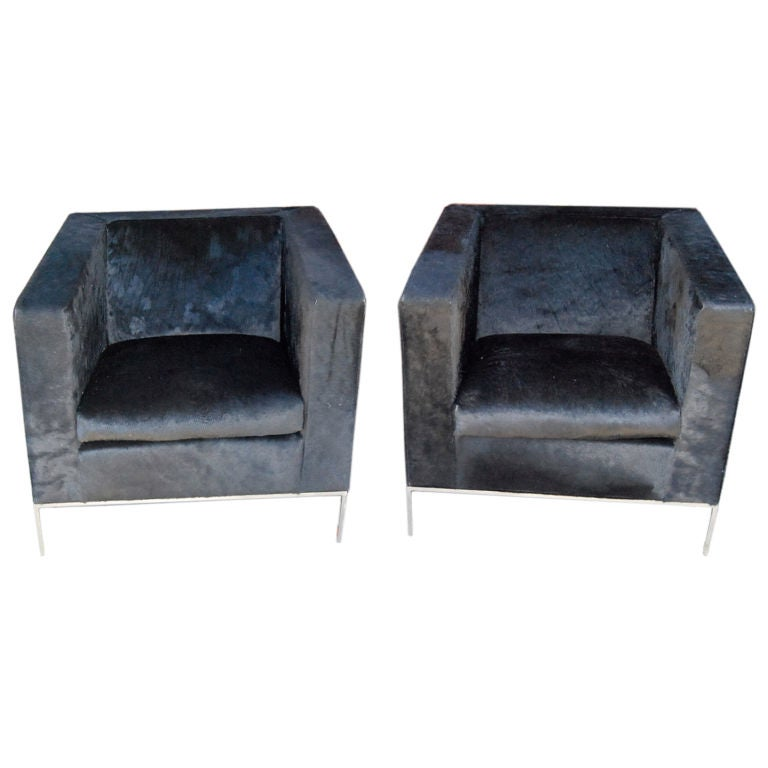 Rodolfo Dordoni For Minotti Pair Of Klee Armchairs At 1stdibs