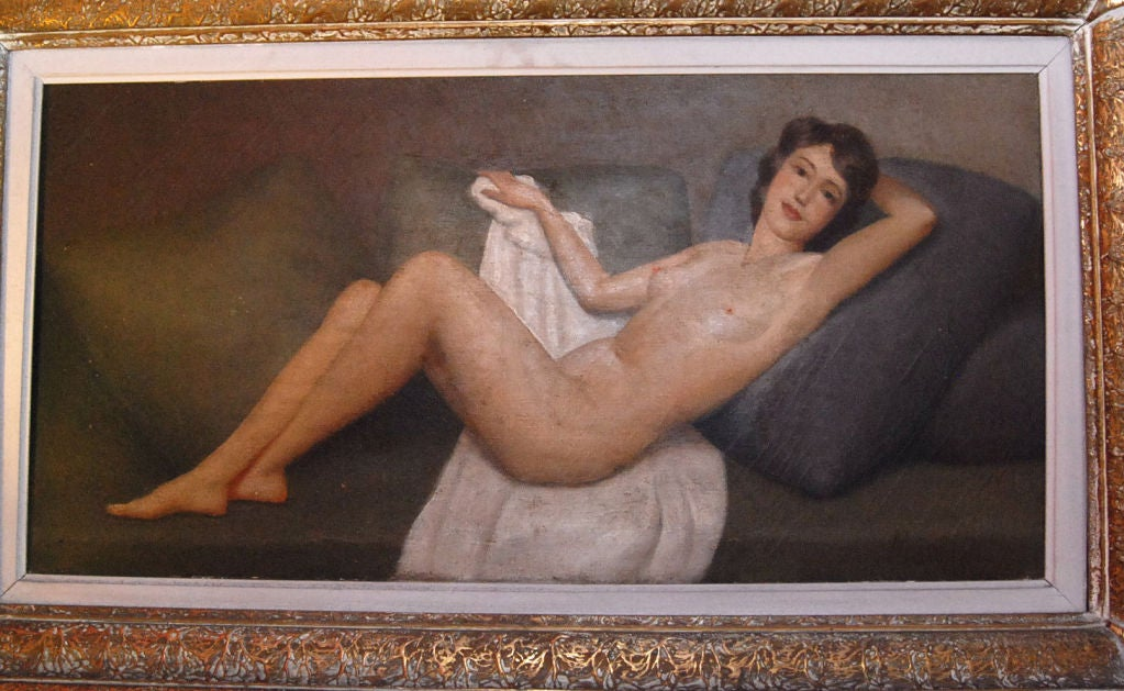 1930s American Paintings 1930 39 s Nude Oil Painting