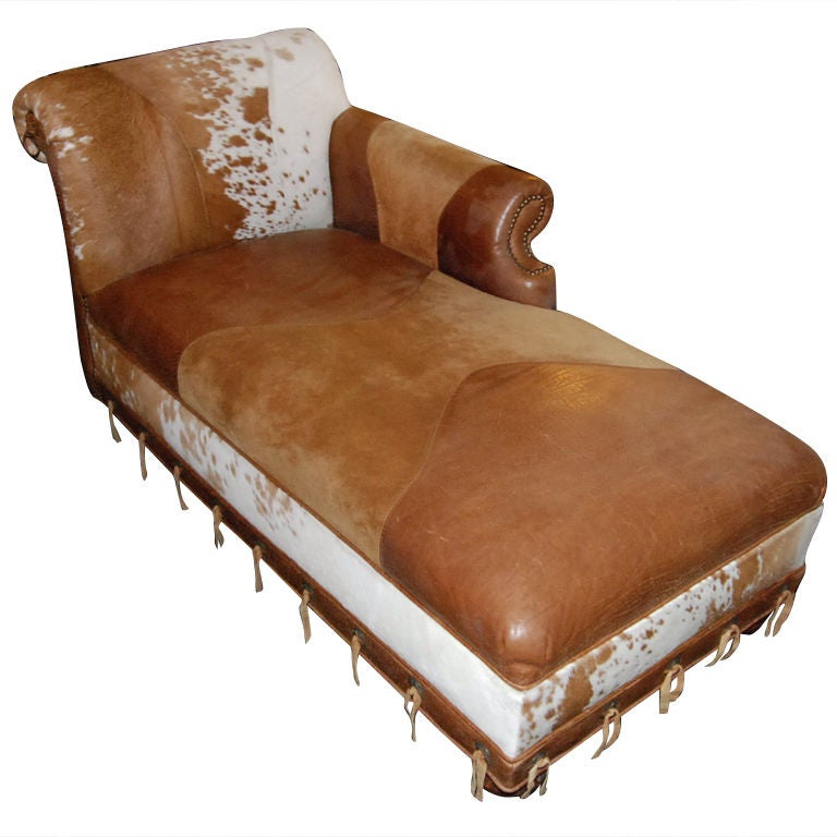 Western style chaise chaise lounge at 1stdibs for Chaise western