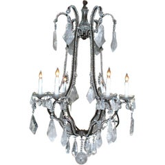 Six Lights Rock Crystal Chandelier