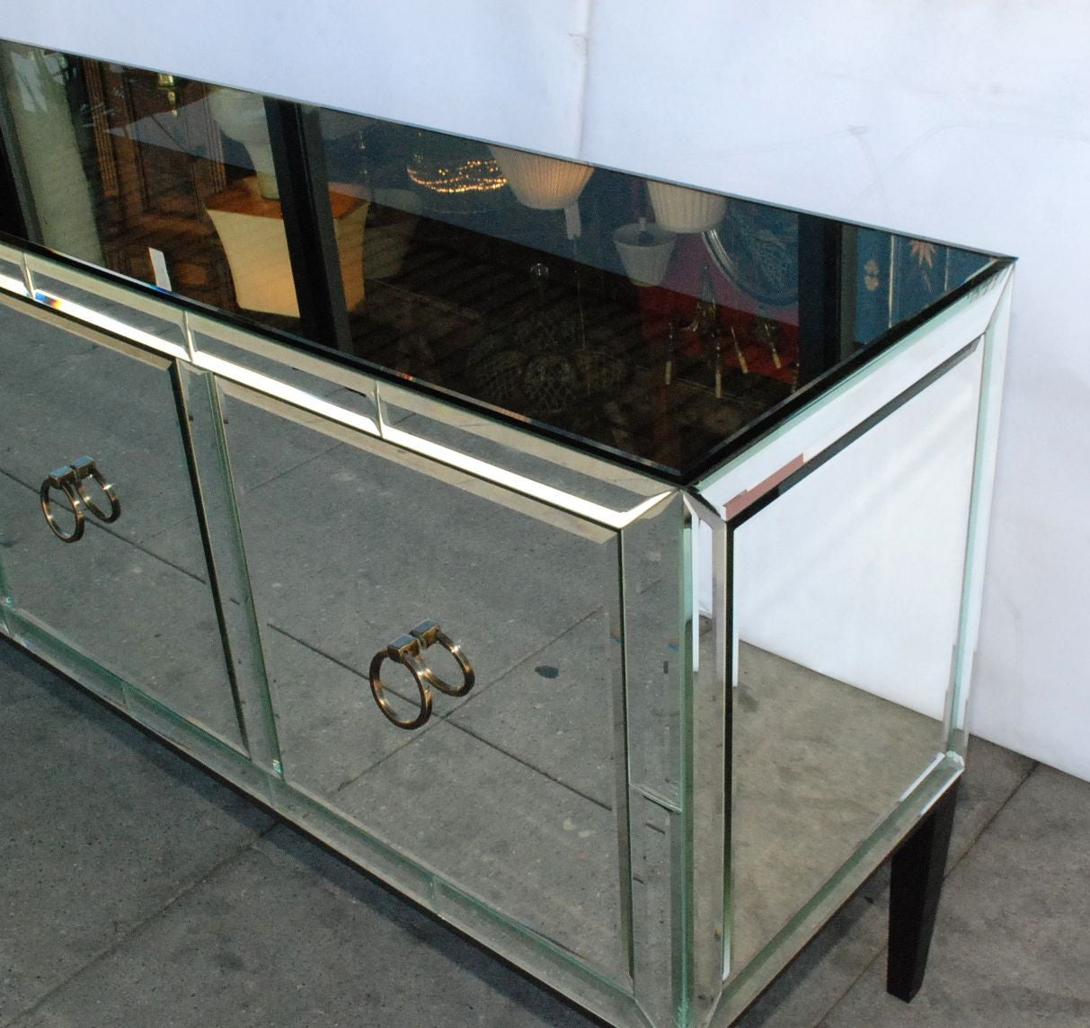 Mirrored Credenza Or Buffet At 1stdibs. Full resolution  snapshot, nominally Width 1213 Height 1144 pixels, snapshot with #3E628D.