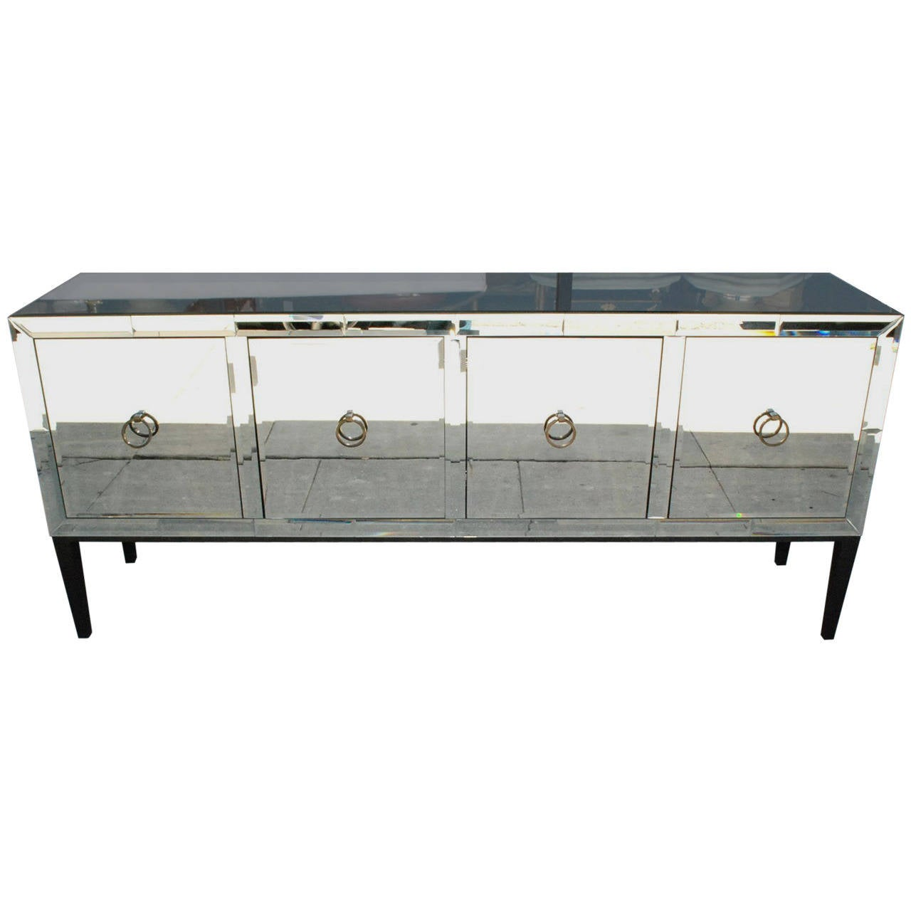 Mirrored Glass Buffet ~ Mirrored credenza or buffet at stdibs