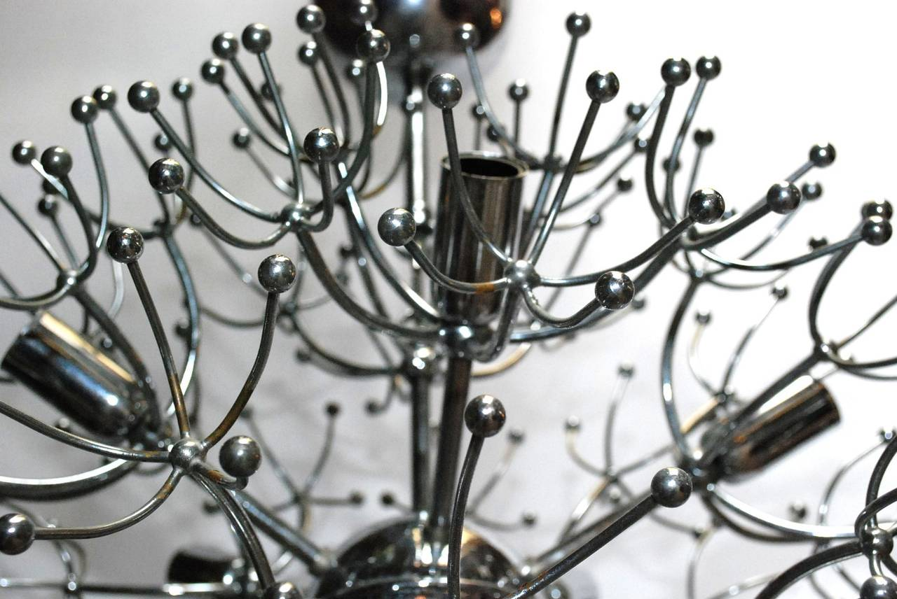 Italian Sciolari Chrome Sputnik Chandelier For Sale