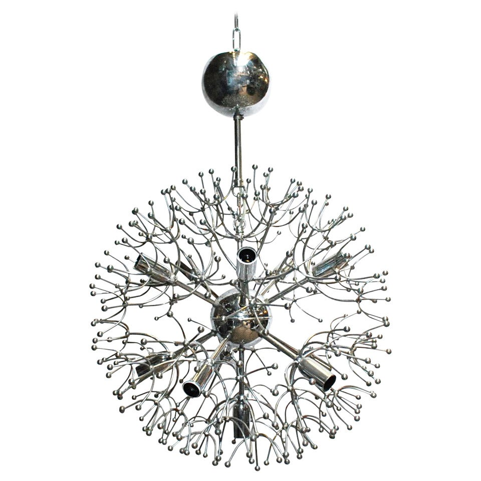 Sciolari Chrome Sputnik Chandelier For Sale