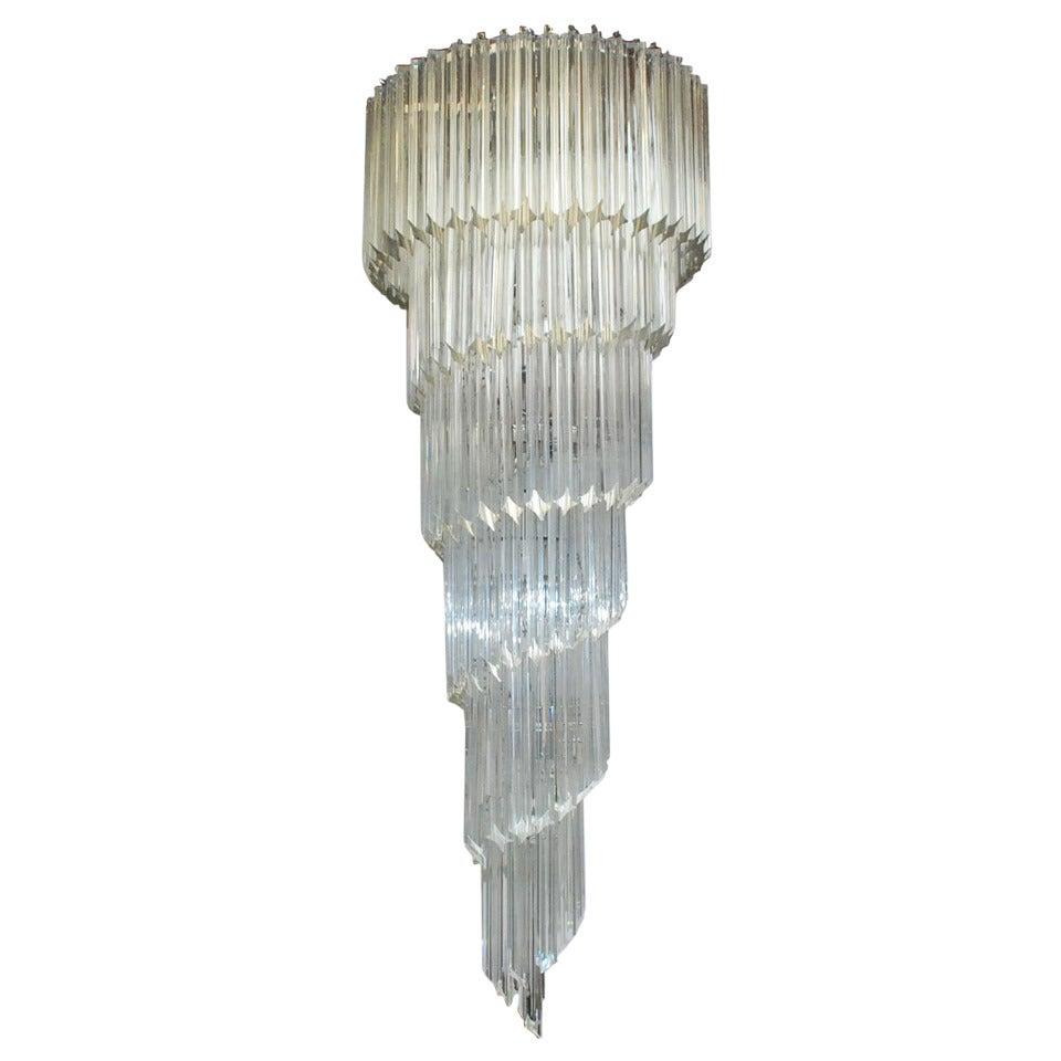 Venini quadriedri spiral chandelier at 1stdibs - Spectacular modern pendant lighting fixtures as center of attention ...