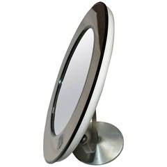 Smoky Glass Round Vanity Mirror by Rimadesio