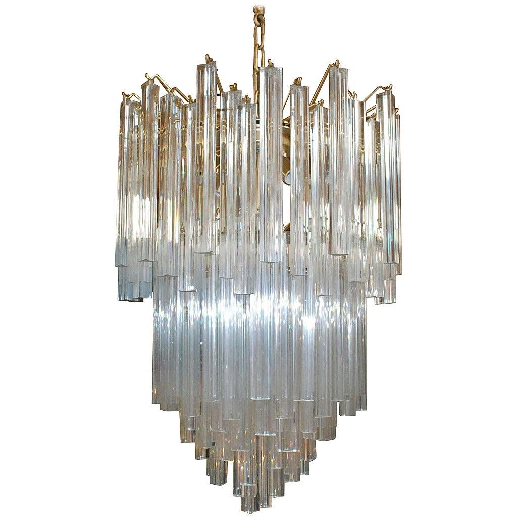 Venini glass chandelier fallcreekonline venini triedri tiered murano glass chandelier at 1stdibs aloadofball Choice Image