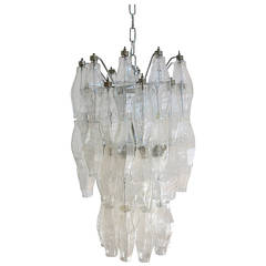 Polyhedral Poliedri Chandelier in the Style of Venini
