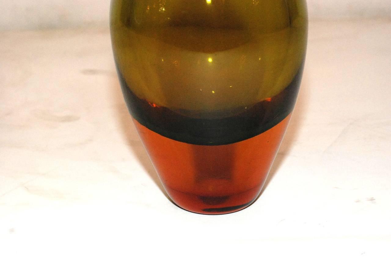 Mid-Century Modern Seguso Murano Glass Vase For Sale