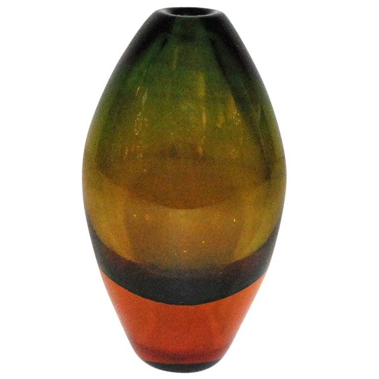 Seguso Murano Glass Vase For Sale
