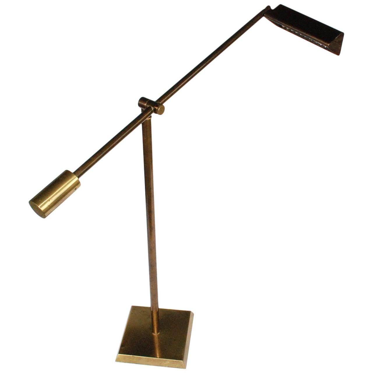 Vintage frederick cooper brass floor lamp at 1stdibs for Antique brass floor lamp value