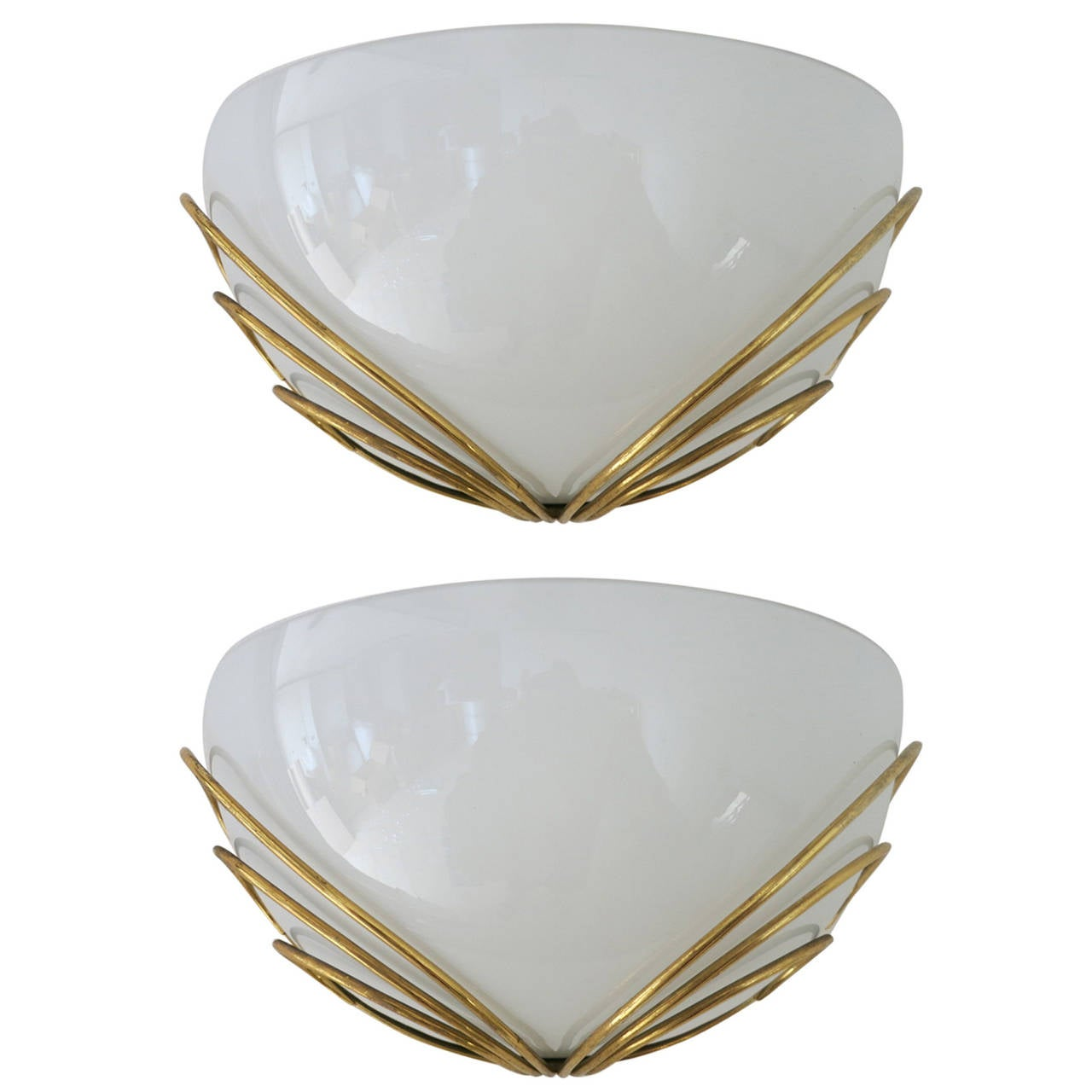 Pair of Art Deco Style Murano Sconces
