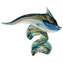 Sergio Costantini Murano Dolphin Sculpture
