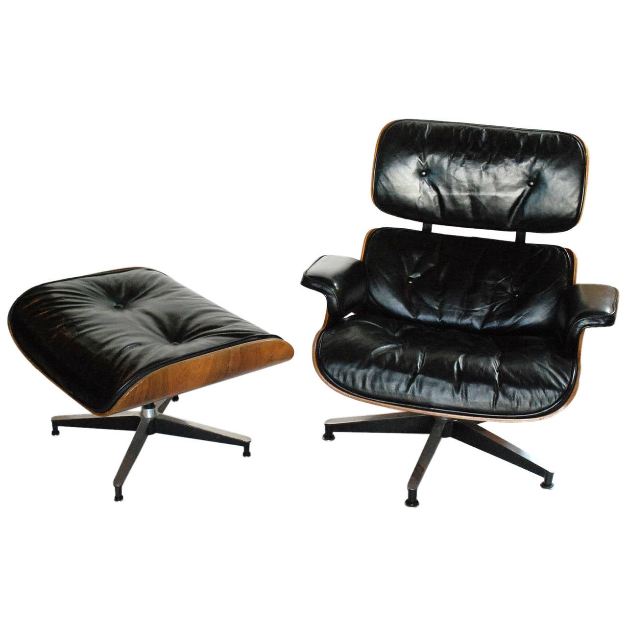 Early Original Eames Lounge 670 671 Armchair And Ottoman For Sale At