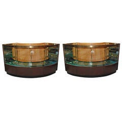 Set of Two Display Cabinets from Bullocks Wilshire