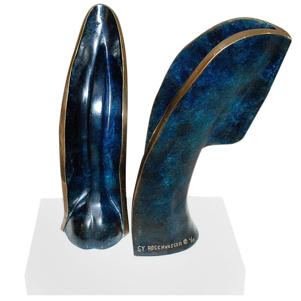 Sy Rosenwasser Bronze Sculpture with Marble Base