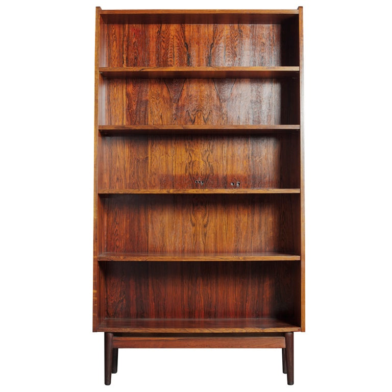 Recessed Rosewood Bookcase At 1stdibs