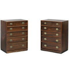 Captain's Chests by Ole Wanscher, Pair