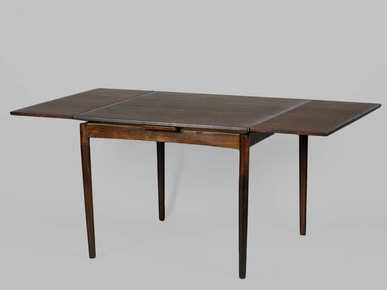 Danish Modern Square Dining Table With Rounded Corners And