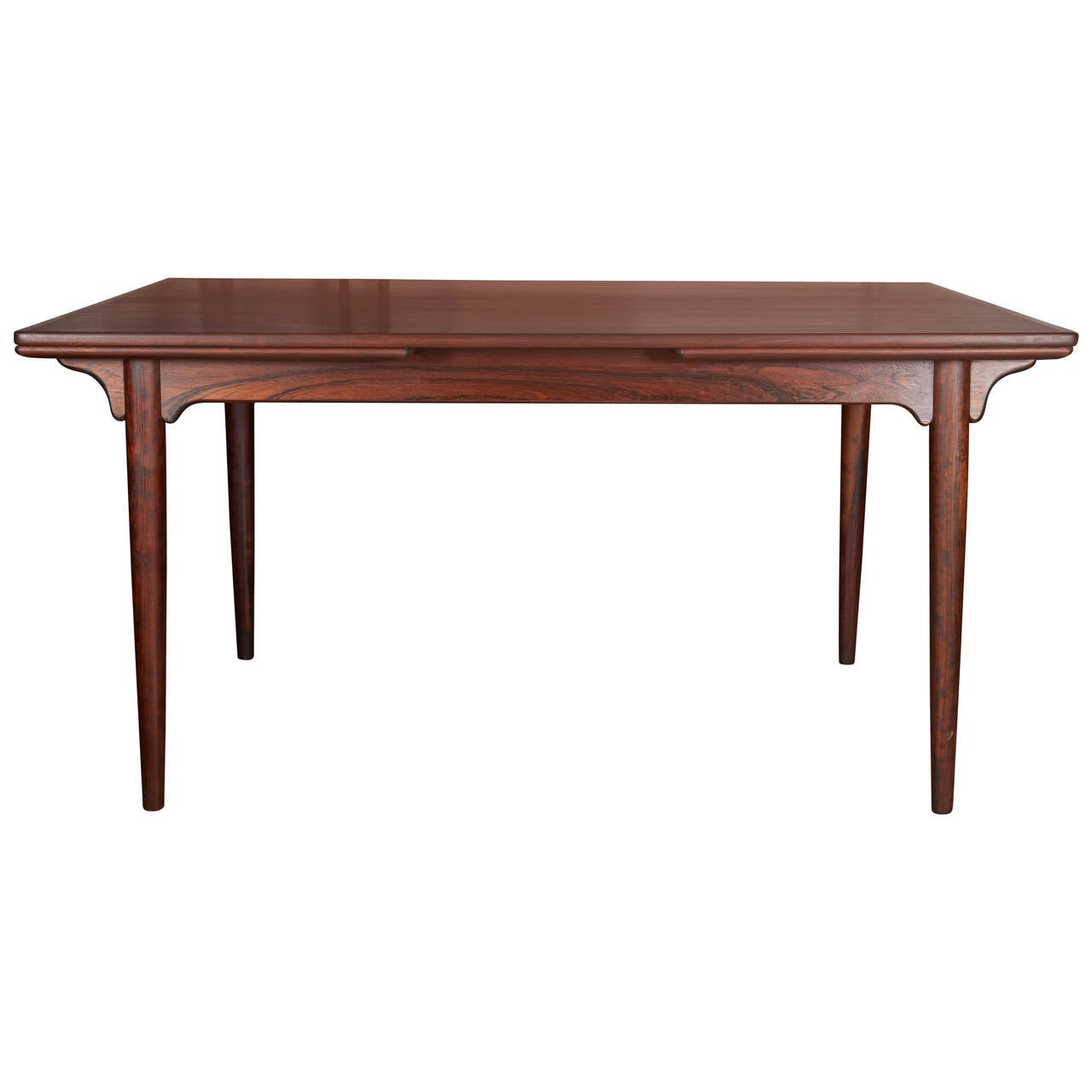 Expandable dining table by omann jun rosewood at 1stdibs for Expandable dining table