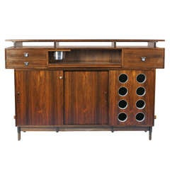 Danish Modern Rosewood Bar with Laminate Top