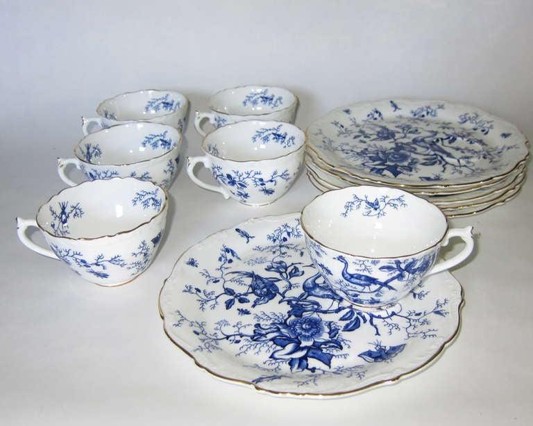 Tea Time Porcelain Bone China Set Of Six By Coalport At