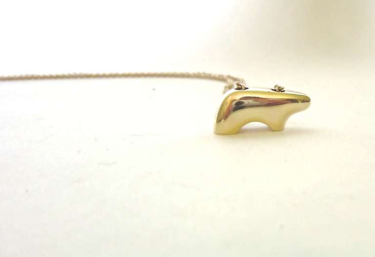American 14 K Gold Necklace by The Golden Bear, Vail